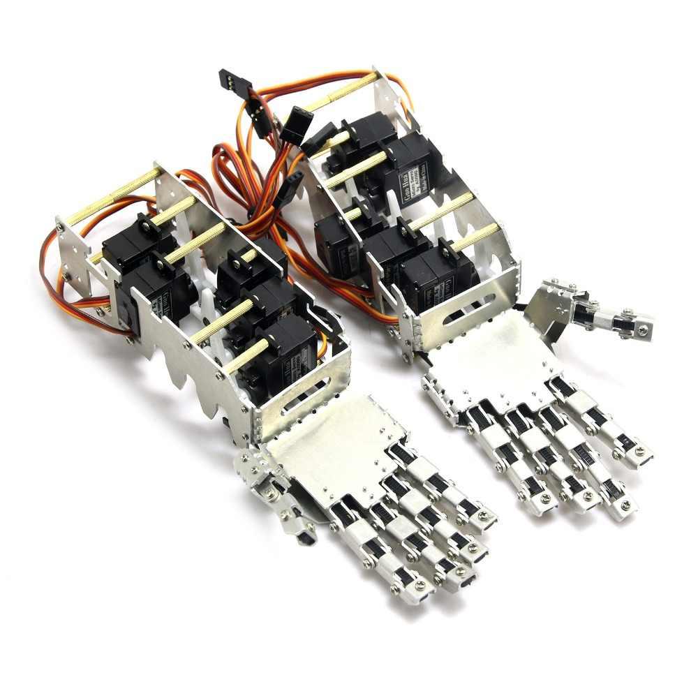 2018 Новый 5DOF гуманоид пять пальцев металлические манипулятора левой и правой руки с A0090 сервоприводы для робота DIY