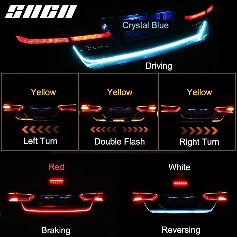 Chrome High Power  L Shape DRL LED Lights Lamps Pair For Kia Sephia Shuma