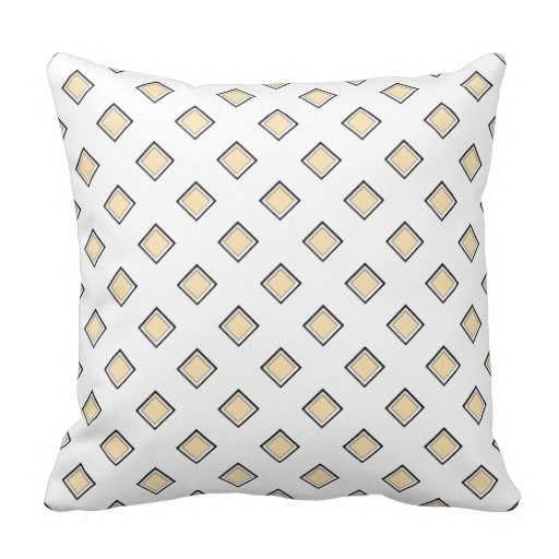 Sunny Peach Diamond Pattern Classy Pillow Case (Size: 45x45cm) Free Shipping
