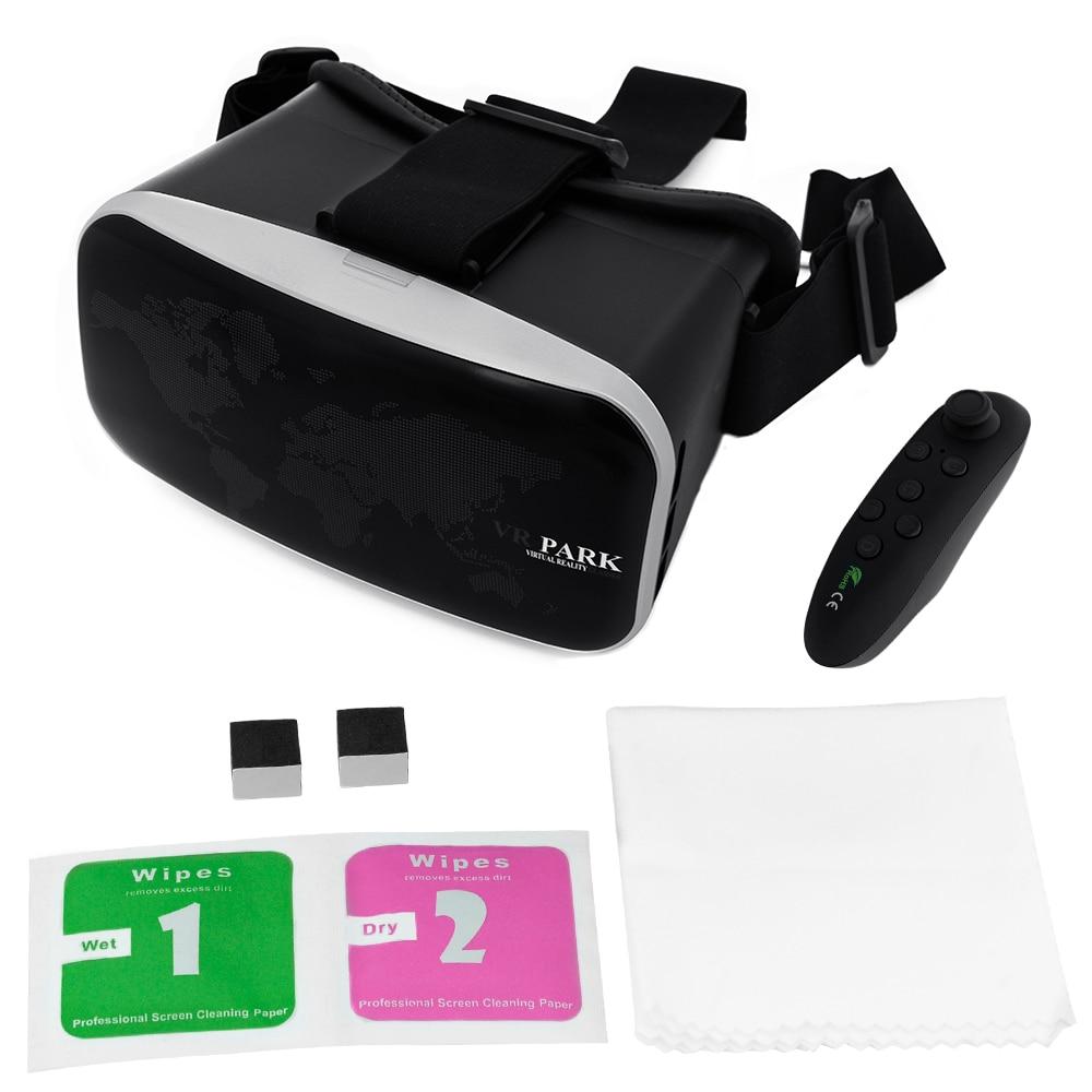 Head-mounted <font><b>Virtual</b></font> <font><b>Reality</b></font> Headset 3D <font><b>VR</b></font> <font><b>Glasses</b></font> Video <font><b>Movie</b></font> Gaming Helmet <font><b>for</b></font> <font><b>4.7-6</b></font> inch Smartphone +Bluetooth Gamepads AC327
