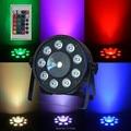 2 pieces Wireless Remote Control LED Par CREE 9x10W+30W 3IN1 RGB LED Stage Light LED Flat SlimPar Tri Can With DMX512 Flat DJ