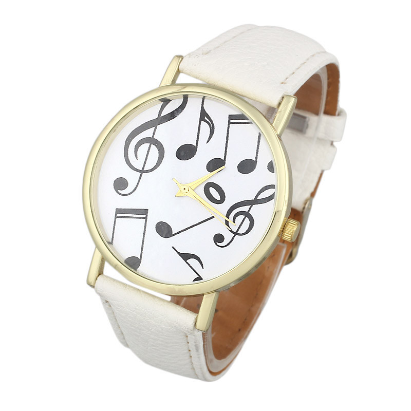 все цены на Relojes 2018 Ladies Casual Musical Notes Watch Unisex Women Men PU Leather Band Analog Quartz Wrist Watch Relogio Feminino #LH онлайн