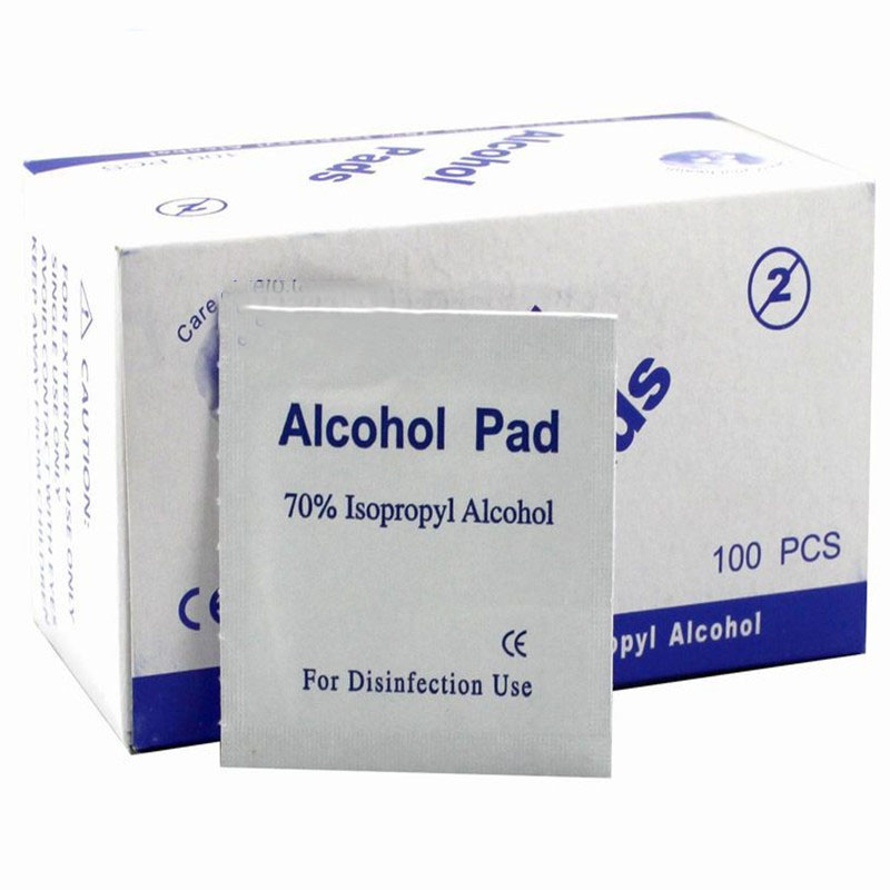 Portable 100 Pcs / Box Of Alcohol Tablets Wipes Anti-corrosion Cleaning Sterilization First Aid Household Cosmetics Disinfection