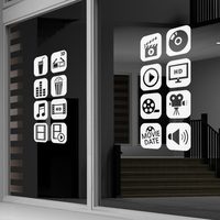 Cinema Vinyl Wall Decal Photo Camera Studio Video Film Cinema Logo Sign Mural Art Wall Sticker Studio Room Video Shop Decoration