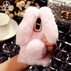 AKABEILA Rabbit Hair Silicone Phone Cases For LG K10 LTE K430 M2 F670 Q10 K410 K430DS K420N F670L F670S F670K Covers Back Case