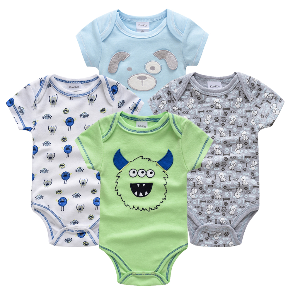 Sporting Kavkas Baby Jungen Nachtwäsche 4 Teile/satz Kurzarm Neue Geboren Baby Kleidung Junge Pyjamas Infantile Baby Junge Bossa Nova Infant Sleeper AusgewäHltes Material