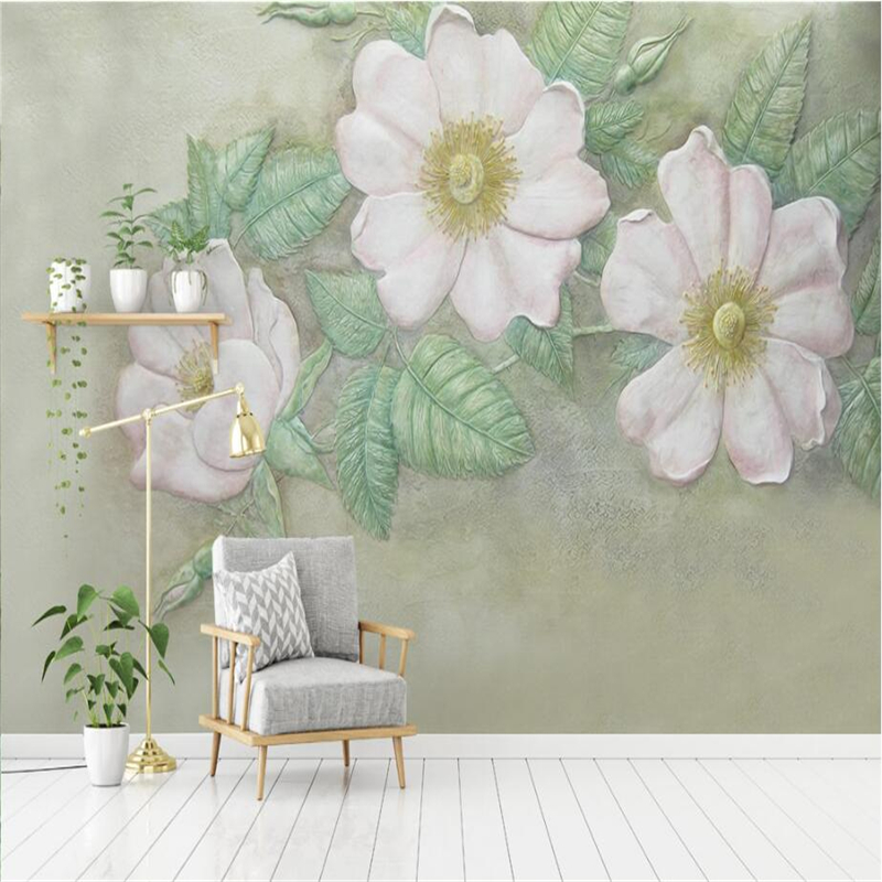 3d Flowers Wallpaper Custom Stereo Relief Rose Wall Papers Home Decor Modern 3d Wallpaper for Living Room Bedroom Study TV Wall 3d stereo relief peacock flowers mural photo wallpaper living room tv sofa study backdrop art wall paper for walls 3d home decor