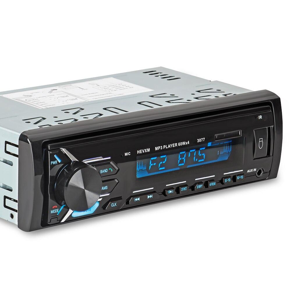 Image 5 - 3077 автомобиль синий зуб MP3 плеер радио Автомобильный MP3 плеер 12 В синий зуб стерео аудио в тире одного 1 din FM приемник Aux Вход-in MP3-плеер для авто from Автомобили и мотоциклы