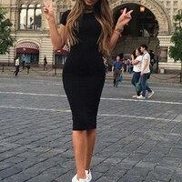 Женское сексуальное платье, однотонное, короткий рукав, круглый воротник, летнее повседневное обтягивающее платье для девочек, IK88