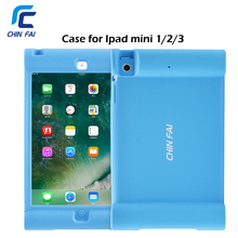 Silicon Shockproof Case for Ipad mini 1 2 3 Soft Drop Resistance Cover Soft Kids case with Loudspeaker Fashionable Case for Ipad(China)