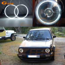 For Volkswagen VW Golf Mk1 Mk2 GTI Euro headlight 1974-1992 Excellent angel eyes Ultra bright illumination CCFL Angel Eyes kit(China)