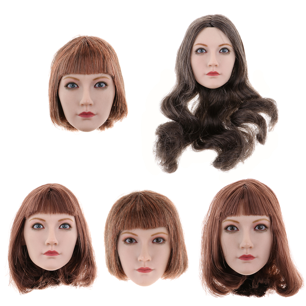 все цены на 1/6 Scale Female Asian Beauty Long/Short Hair Head Sculpt Carved Model for 12'' TBLeague Phicen Action Figure Doll Accessories