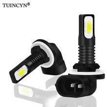 TUINCYN 2 шт H27 Led 881 светодиодные лампы H27W2 2400LM 6500 K белого автомобиля противотуманные спереди Глава вождения Запуск лампа Авто 12 V H27W/2 H27W