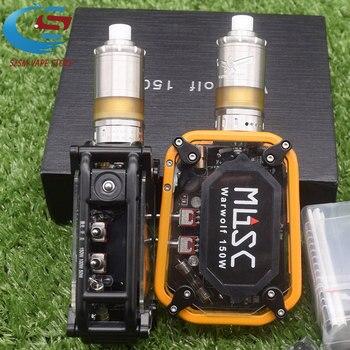 Electronic cigarette Warwolf 150W Box Mod Kit vape with M5 MTL RTA tank 5ml Capacity e-cigarette output 3500mAh battery original ehpro 2 in 1 fusion 150w tc kit max 150w w fusion mod