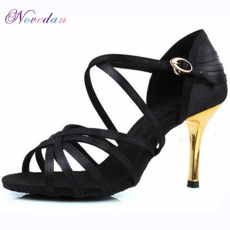 14dd2604a9 Mulheres Professional Ballroom Latina Salsa Sapatos de Dança Tango Samba  Sapatos de Dança Das Senhoras sapatos de Salto Alto Sapatos de Dança Suaves  5 cm/ 6 ...