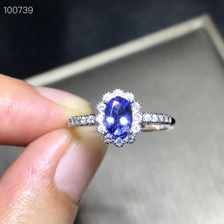Takı ve Aksesuarları'ten Halkalar'de Uloveido Doğal Tanzanit Yüzük, Koyu Mavi Taş, 925 Ayar Gümüş, Hipoalerjenik Güzel Mücevher, Sertifika, hediye Kutusu FJ372'da  Grup 1