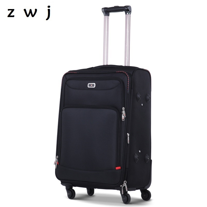 2018 New Business Rolling Luggage Men Travel Bag Boarding Box Women Trolley Oxford Suitcase