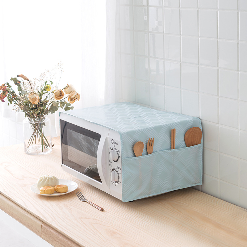 Microwave Dust Cover Oil Dust Waterproof Storage Bag Microwave Oven Hood Kitchen Accessorie Microwave Oven Hood oven cover towel|Microwave Oven Covers| |  - title=