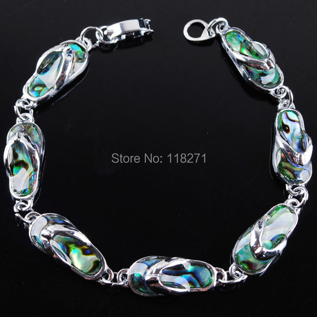 Charm Free shipping Green New Zealand Abalone Shell Beads