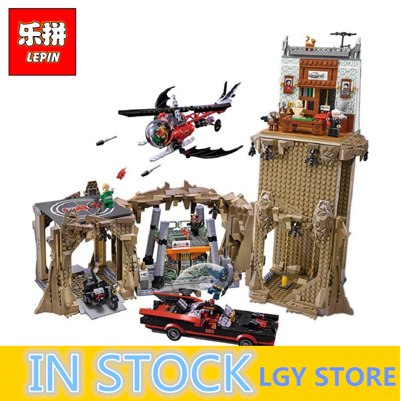 Lepin 07053 2566pcs DC Batman Super Heroes MOC Batcave Educational Building Blocks Bricks Toys 76052 birthday gifts boy toys 2566pcs genuine dc batman super heroes moc batcave educational building blocks bricks toys gift for children 76052
