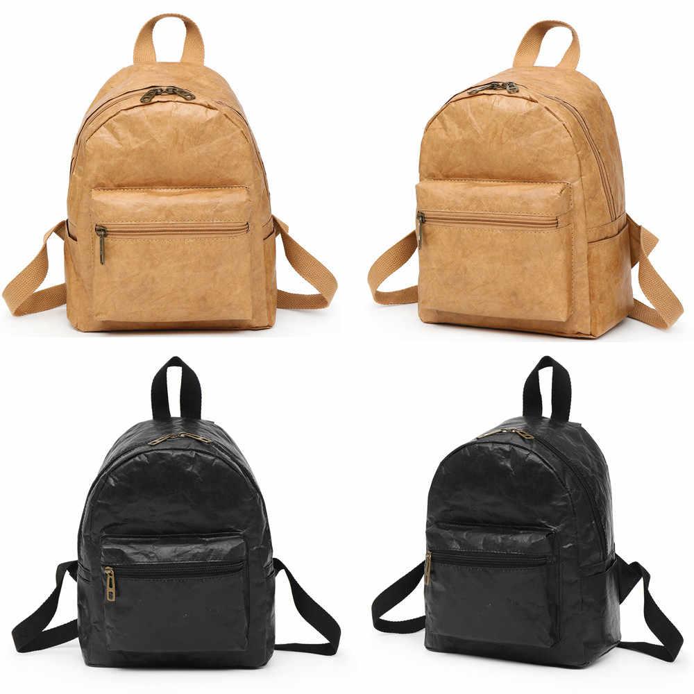 438d9eb1c35 ... Aelicy men Backpack Vintage leather girls School Bag waterproof Travel  Women Bag Laptop mochila feminina dropshipping ...