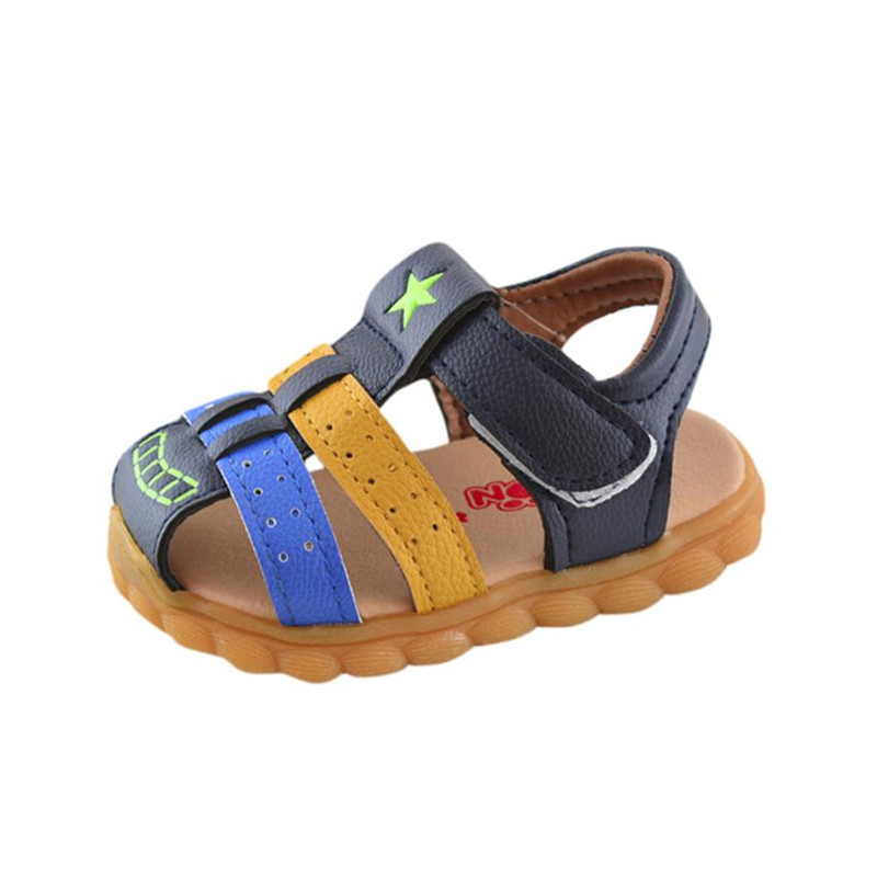 Baby Boys shoes Fashion Patchwork Sneaker Star Print baby Casual Sandals Shoes for kids boys sports casual shoes Dropship XM35