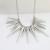 Steampunk colar pingente de ouro-cor cadeia cor prata pico maxi colares declaração & pingentes para as mulheres jóias