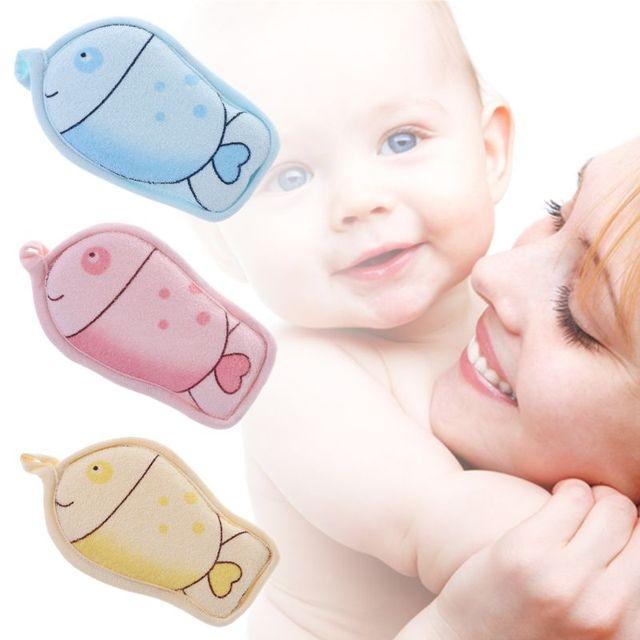 1Pc Baby Towel Sponge Brush Bathing Bathtub Shower Newborn Rub Bath Bathroom Accessories Cartoon Kids Soft Puff Cute New 1