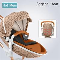 Gratis verzending Hot Mom 2 in 1 Luxe Kinderwagen twee-weg Pasgeboren vervoer Hoge Landschap Baby Kinderwagen Licht folding PU Materiaal 5