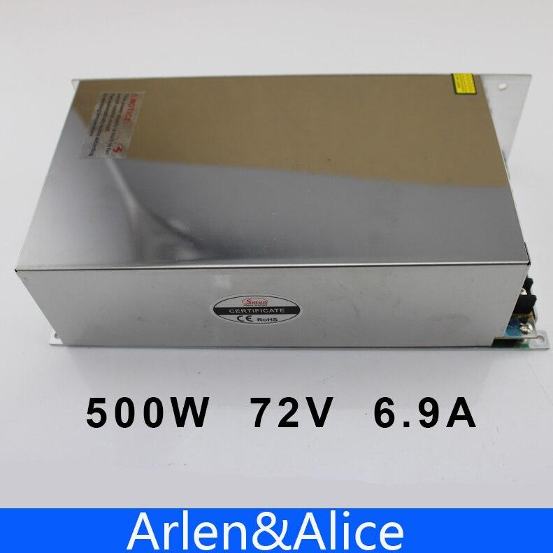 500W 72V 6 9A 220V INPUT Single Output Switching power supply for LED Strip light AC