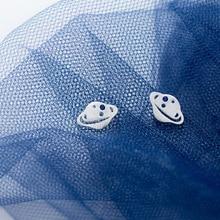 Real 925 Sterling Silver Earrings 2019  Matte Planet Stud Earrings For Women Small Earrings pendientes plata de ley 925 mujer real 925 sterling silver stud earrings for women girls sterling silver jewelry brincos oorbellen aros de plata 925