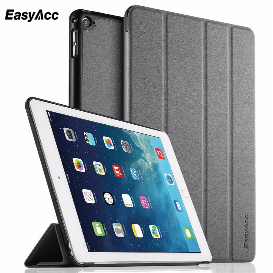 For Apple ipad Air 2 Case Four-fold Flip PU Leather Wake Up /Sleep Cover For New ipad 6 Air 2nd with Smart Stand Holder for ipad air 1 case 3 fold pu leather smart wake up sleep rainbow gradient with pc back cover for ipad 5 magnetic flip stand