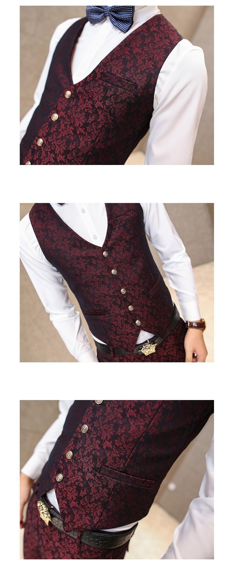 men wine red vests 3