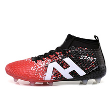 Men High Ankle Soccer Shoes Super fly indoor font b Football b font Boots trainning sneakers