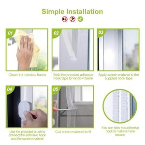 Image 5 - Fly Mosquito 4 Packs Summer Window Net Mesh Screen Room Cortinas Mosquito Curtains Net Curtain Protector Fly Screen Insets