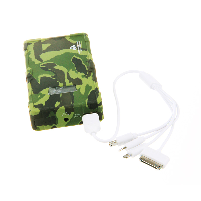 2017 Pbear Camouflage Auto car mobile emergency power supply 12800mAh Battery Power charger Device for mobile phone tablet PC 3 7v batteries 405 585 tablet computer game clip mobile power supply built in battery
