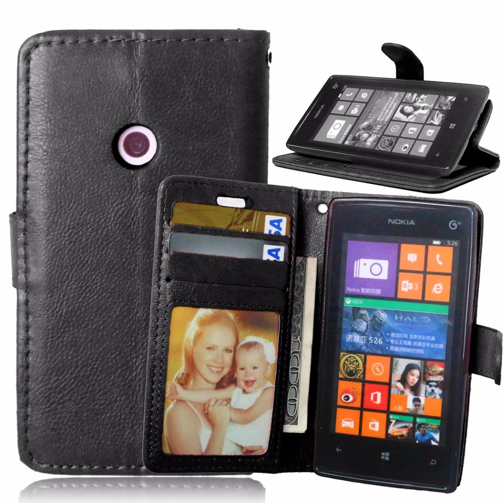 premium selection 322e2 c278b Phone Case for Microsoft Nokia Lumia 520 Luxury Flip Stand Leather Cover  for Nokia Lumia 525 526 Wallet Case Original Back Cover-in Wallet Cases  from ...