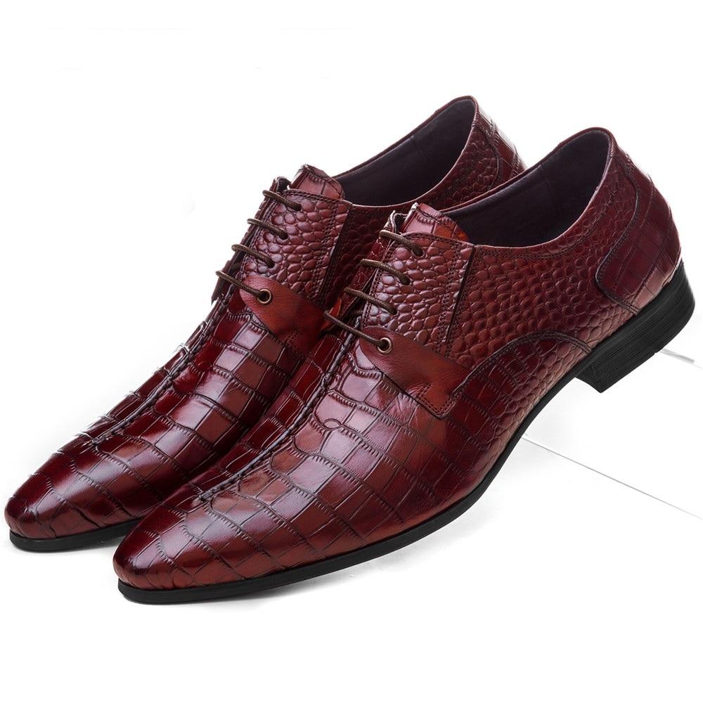 Didelio dydžio EUR45 juoda / ruda Tan nukreipta pirštų serpentinas Prom batai Vyriški vestuvių bateliai natūralios odos verslo suknelė batai