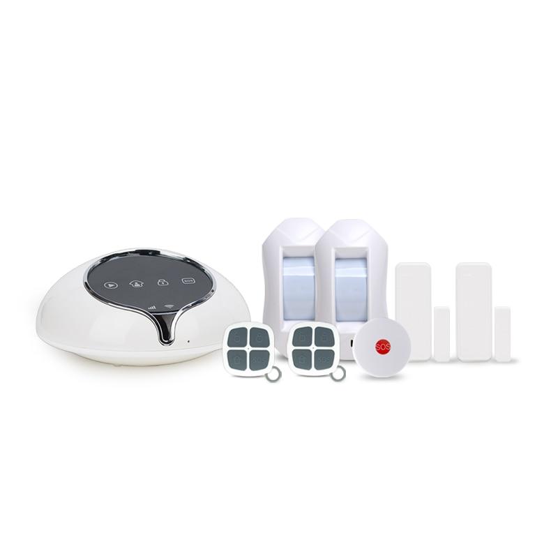 Smart home security burglar alarm system & App control 3G alarm system for home security work with curtain PIR detector sensor newest 3g home security alarm system