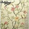 Birds Tree Flowers Chinoiserie Wallpaper Roll Rof Rolls Bird Tree Flower 3D Statement Wall Scroll To
