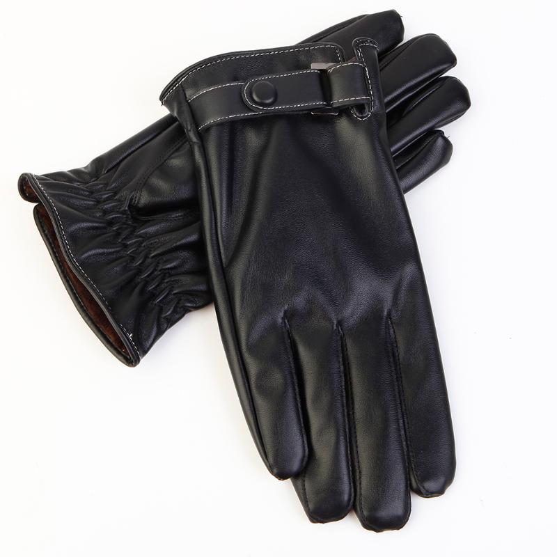 Men Touch Screen Windproof Anti-slip Outdoor Winter Warm Gloves