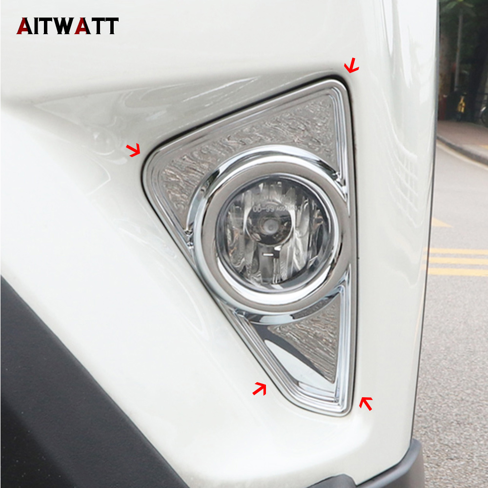 AITATT New Accessories For Toyota RAV4 <font><b>RAV</b></font> <font><b>4</b></font> 2016 2017 <font><b>2018</b></font> ABS Front Fog Light Lamp Cover Trim 2 Pcs / Set Car Styling image