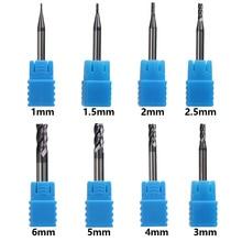 Endmill Cắt 4 Sáo Cối Xay 1 Mm 1.5 Mm 2 Mm 2.5 Mm 3 Mm 4 Mm 5 Mm 6mm Hợp Kim Carbide Thép Vonfram Dao Phay Cấp Cối Xay Kim Loại Cutt