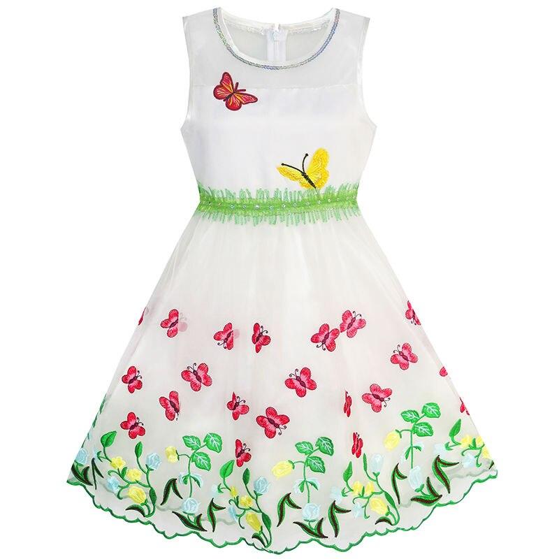 ef79dc650c5ea Sunny Fashion Robe Fille Papillon Fête Anniversaire Robe d été dans Robes  de Mère et Enfants sur AliExpress.com