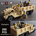 205PCS Modern Century Military USA M2 Half Track Model Airborne Troop Figure Building Block Brick Educational Toy For Kids Gift