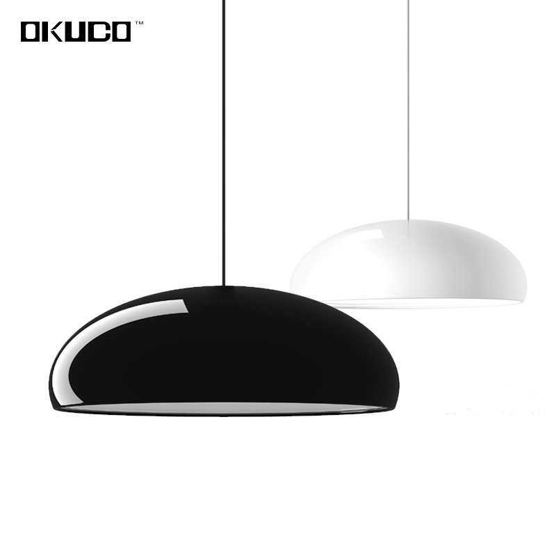 LED Modern Pendant Lights For Dining Room Restaurant suspension lamp black lampshade acrylic cover for 15-25 meters