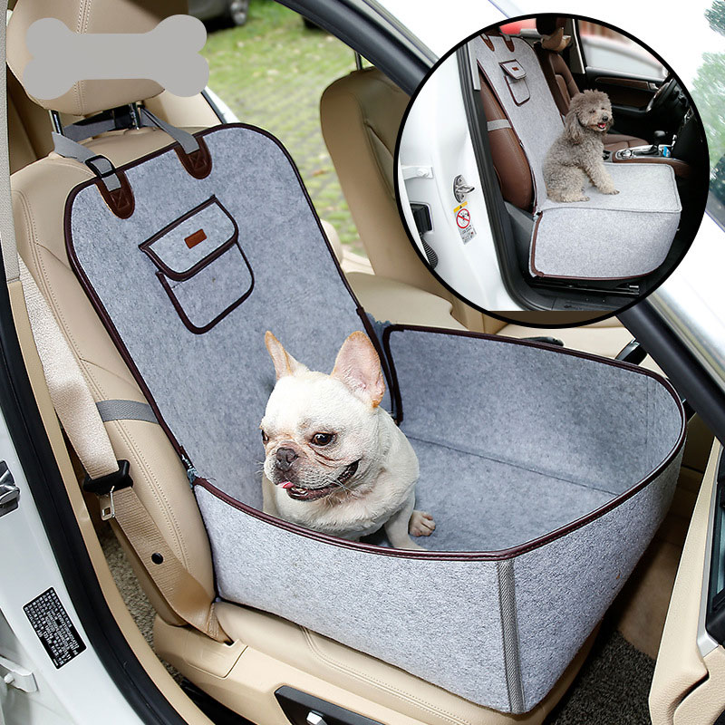 GLCC Pet Car Seat Cover Car Booster Seats Portable Waterproof Dog Seat Covers for Carrier Seats Pad Safe Carry House Cats Travel ...