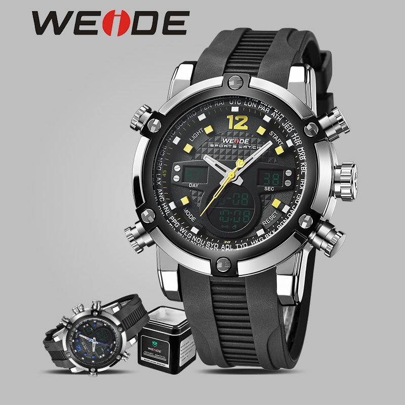WEIDE brand quartz sport wrist watchSilicone genuine waterproof fashion role electronic watches alarm clock LED electronic watch splendid brand new boys girls students time clock electronic digital lcd wrist sport watch