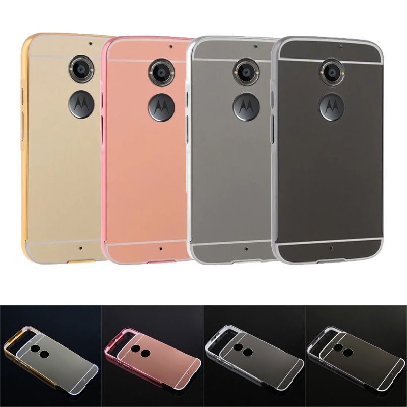 new concept 4fa1a 5f4b0 US $4.99 |For Moto X+1 2014 Case Mirror Plating Metal Frame with Back Cover  Case for Motorola Moto X2 X+1 2014 2nd Gen XT1097 XT1095 5.2
