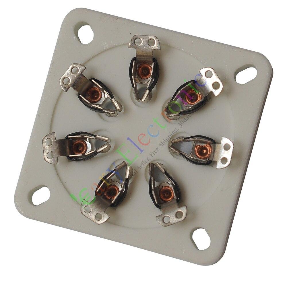 Оптом и в розницу 60 шт. 7Pin Керамическая вакуумная Трубка розетки клапан для 813 FU-13 5-125Б аудио усилитель радио бесплатная доставка